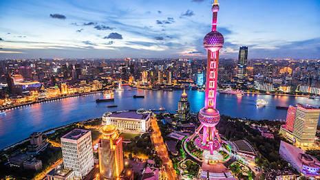 Wide horizon: Shanghai's imposing downtown skyline at night. Image credit: iStockphoto