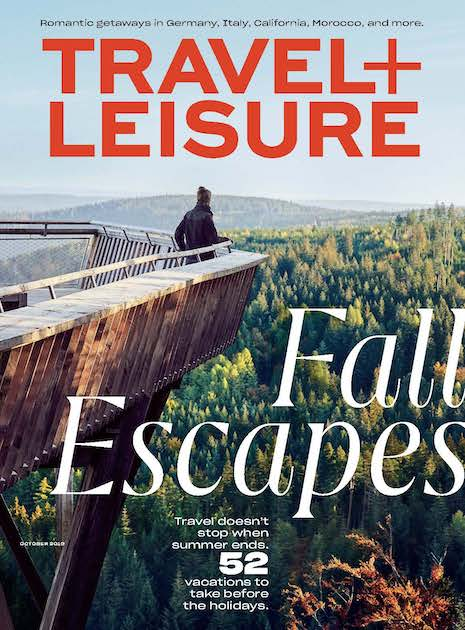 Travel + Leisure October 2019 cover