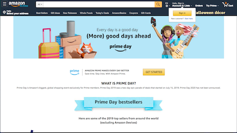 Shoppers spent $4.2 billion on Amazon's 2019 Prime Day event July 15-16, making it one of the leading retail events in the calendar. Image credit: Amazon