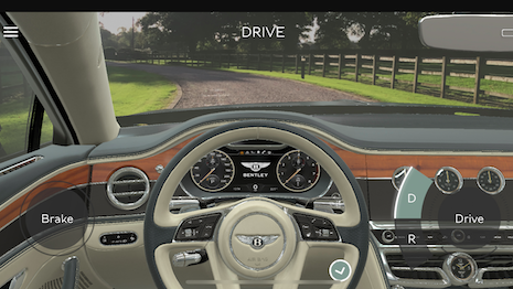 Auto mobile: Bentley's augmented reality app ups the ante for tech support to customers and prospects looking into the new Flying Spur touring sedan. Image credit: Bentley