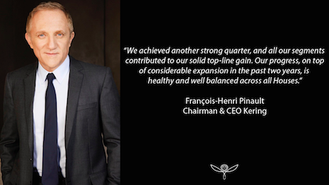 François-Henri Pinault, chairman/CEO of Kering, was OK with the company's growth in the face of external challenges. Image credit: Kering