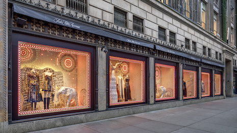 Dior Cruise 2020 collection in Saks Fifth Avenue windows in New York. Photo credit: Francis Dzikowski. Image credit: Saks Fifth Avenue