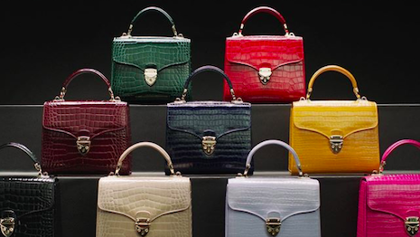 Aspinal of London's signature Midi Mayfair handbag line in its spring-summer 2020 collection. Image credit: Aspinal of London