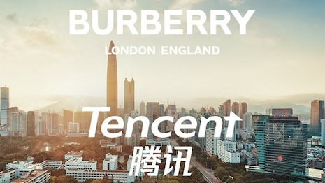 Partnering with Tencent allows Britain's Burberry to tap into the quickly growing social-retailing phenomenon in China. Image courtesy of Burberry