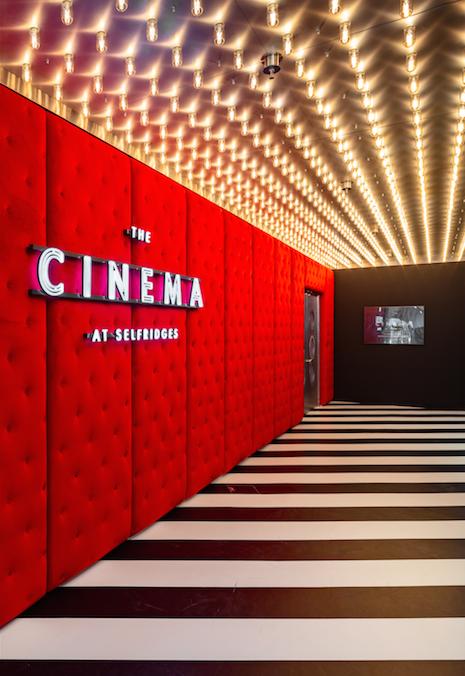 Foyer of the Cinema at Selfridges on London's Oxford Street. Image courtesy of Selfridges. Photo and copyright: Matt Writtle