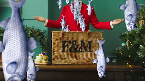 Fishing for more business: Still from Fortnum & Mason's social push for Christmas hampers. Image credit: Fortnum & Mason