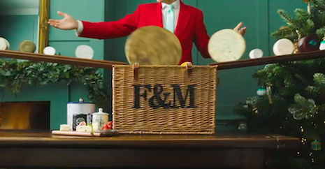 Room for more: Still from Fortnum & Mason's video pushing Christmas hampers. Image credit: Fortnum & Mason