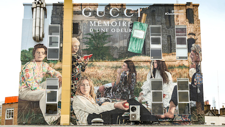 Gucci Mémoire d'une Odeur artwall in London. Image courtesy of Getty Images and Gucci
