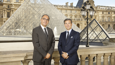 Jean-Luc Martinez, president-director of the Musée du Louvre, and Louis Ferla, CEO of Vacheron Constantin. Image courtesy of Vacheron Constantin