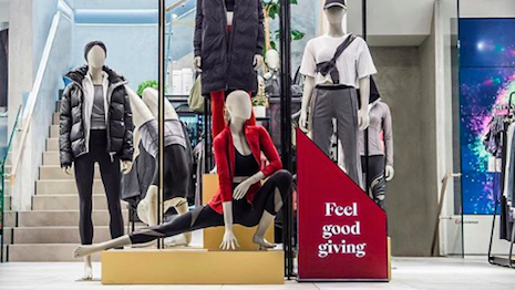 Athleisure and yogawear retailer Lululemon has mastered the art of experiential retail: its store staff are styled as educators, not sales associates. The shop floor is also sprinkled with uplifting imagery, inspiring messaging and eye-catching merchandising. Image credit: Lululemon