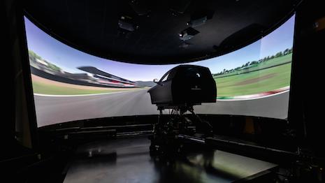 Maserati Innovation Lab's dynamic simulator. Image courtesy of Maserati