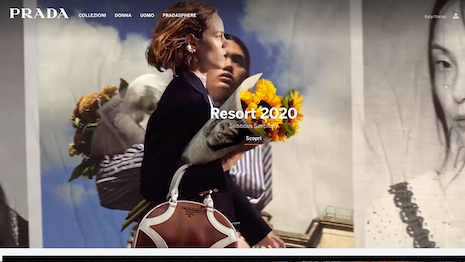 New site smell: Prada.com gets a makeover. Image credit: Prada