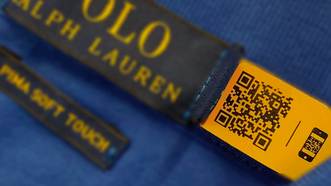 QR codes on labels of Ralph Lauren products help authenticate merchandise for consumers and aid in supply chain and inventory management for the U.S. fashion giant. Image credit: Ralph Lauren