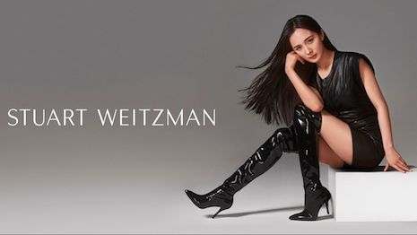 Digging heels in: Tapestry-owned Stuart Weitzman's global spokeswoman Yang Mi in Katrina boots. Image credit: Stuart Weitzman