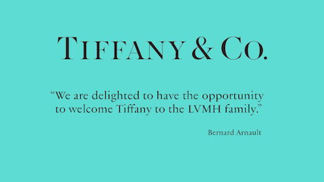 "Tiffany says ""I do"" to LVMH for $16.2 billion. Image credit: LVMH"