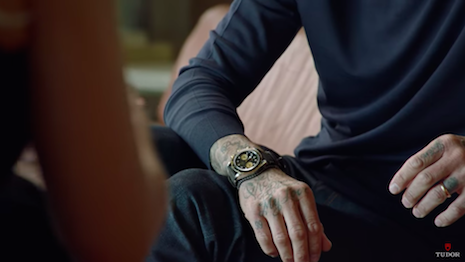 Tudor brand ambassadors David Beckham and Lady Gaga made the best of their time in Los Angeles. Image credit: Tudor