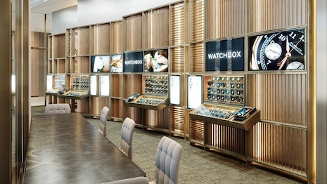 The WatchBox boutique in the Dubai International Financial Centre. Image courtesy of WatchBox