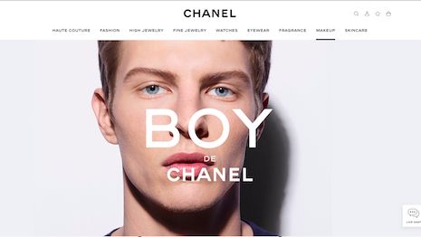 France's Chanel blazed a trail with the launch of Boy de Chanel, a new line of beauty products for men. Seen: Boy de Chanel page on Chanel.com. Image credit: Chanel