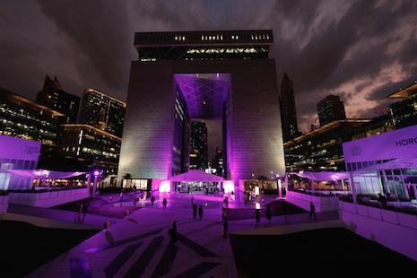 The gate at the Dubai International Financial Centre, home to Dubai Watch Week 2019. Image credit: Dubai Watch Week