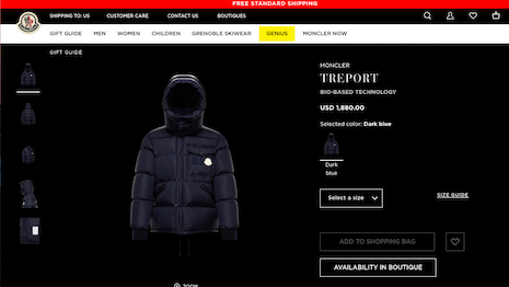 Moncler's Treport bio-based down jacket's fabric, lining, buttons and zips is made of castor beans. Image credit: Moncler