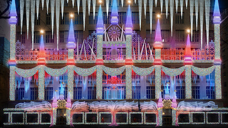 Saks Fifth Avenue New York holiday 2019 light show rendering. Image courtesy of Saks Fifth Avenue