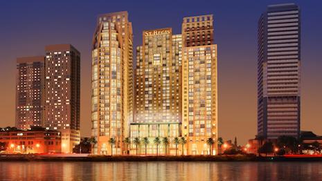 Exterior shot of The St. Regis Cairo in Egypt. Image courtesy of Marriott Luxury
