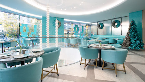 The Blue Box Café in the Tiffany store within Shanghai's Hong Kong Plaza may be the gift that keeps on giving. Image courtesy of Tiffany & Co.