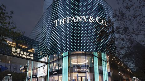 The newly renovated Tiffany store in Shanghai's Hong Kong Plaza. Image courtesy of Tiffany & Co.