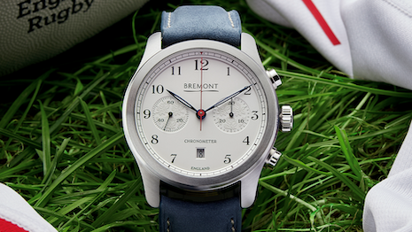 The Bremont Rose launched to coincide with Bremont's five-year partnership with England Rugby. Image courtesy of Bremont