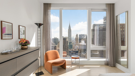 A Centrale residence overlooking New York's Empire State Building. Image courtesy of Ceruzzi Properties