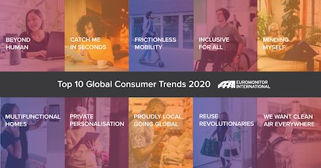 Euromonitor Top 10 global consumer trends 2020. Image credit: Euromonitor International