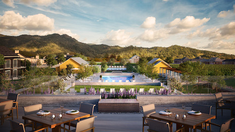 Four Seasons Resort and Private Residences Napa Valley. Image courtesy of Four Seasons Hotels and Resorts