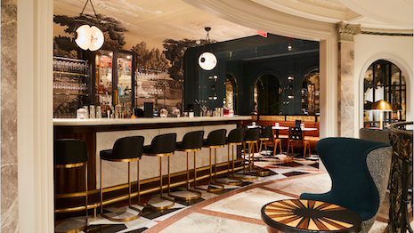 Goodman's Bar, Bergdorf Goodman's new restaurant in the men's store, has a European flair to it. Image courtesy of Bergdorf Goodman