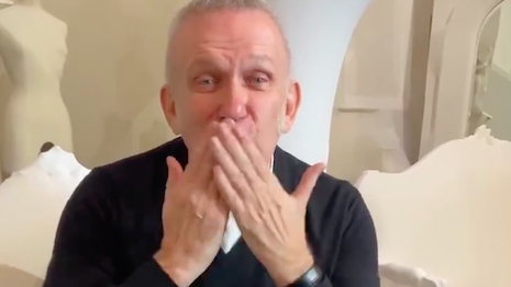 Designer Jean Paul Gaultier in a still from his Twitter video announcing the Jan. 22, 2020 runway show will be his last. Image credit: Jean Paul Gaultier