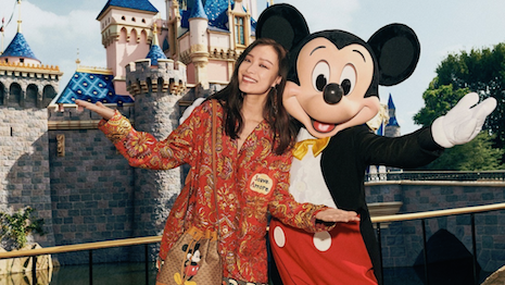 Gucci's 2020 Chinese New Year campaign features actress Ni Ni hanging out in Disneyland. Photo credit: Gucci