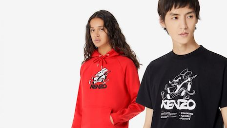 LVMH-owned fashion label Kenzo launched a capsule kung fu rat collection on Tmall's Luxury Pavilion. Image credit: Alibaba