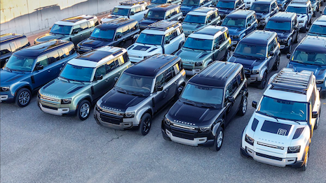 The first 60 New Land Rover Defenders have officially arrived in the United States. Land Rover is inviting consumers to be among the first to see the models this month at the #4xFAR festival. Image credit: Land Rover