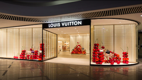 Louis Vuitton is closing its Times Square Mall store in Hong Kong. Image credit: Louis Vuitton
