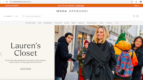 Founder Lauren Santo Domingo continues to be the face of Moda Operandi. Image credit: Moda Operandi