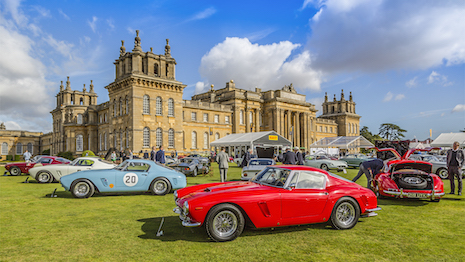 Britain's Blenheim Palace is home to the Salon Privé Concours d'Elégance, a car show that attracts wealthy fans of bespoke, classic and luxury cars. Image credit: Salon Privé