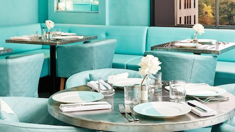 Tiffany's Blue Box Cafe in New York. Image credit: Tiffany & Co.