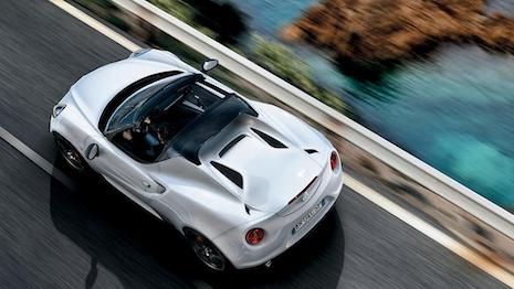The Alfa Romeo 4C Spider. Image credit: Alfa Romeo