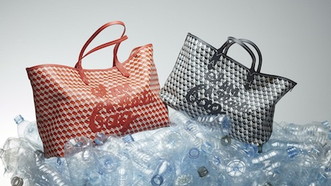 """The """"I Am A Plastic Bag"""" is made of recycled plastic. Image courtesy of Anya Hindmarch"""