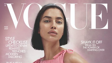 March 2020 issue of British Vogue featuring model Irina Shayk on the cover. Image credit: British Vogue