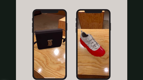 Burberry wants to simulate the in-store shopping experience with its augmented reality tool. Image credit: Burberry