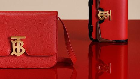 Burberry's structured TB bag was reimagined for 2020 Chinese Lunar New Year in vibrant shades of red – a symbol of joy, vitality and prosperity in China – complete with its Thomas Burberry Monogram clasp. Image credit: Burberry