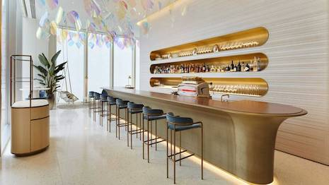 Café V in Louis Vuitton's Osaka Midosuji store in Japan is the brand's first café. Image credit: Louis Vuitton