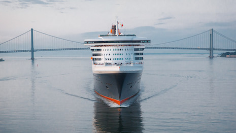 Cunard's grand Queen Mary 2 cruise liner, a byword in old-world charm mixed with contemporary comforts. Image courtesy of Cunard
