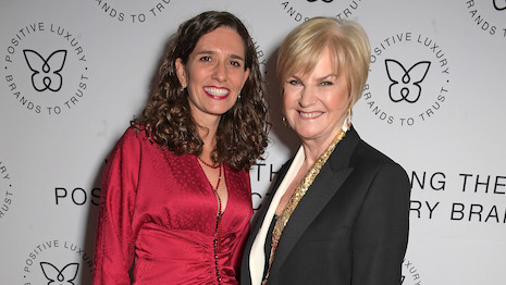 Daniela Vega and Anne Pitcher of Selfridges, winner of Retailer of the Year from the Positive Luxury Awards. Image credits: David M. Benett/Dave Benett/Getty Images for Positive Luxury