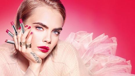 Model and actor Cara Delevinge fronts for the new Dior Addict campaign. Image courtesy of Dior